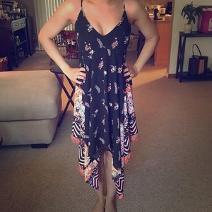 Express floral strappy high low dress size XS